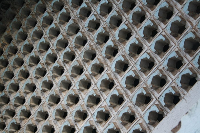 Let the trypophobia get to you!. A uniquely designed wall in my house. Goa Goan Holes Wall Backgrounds Blue And White Cement Pattern Close-up Cluster Day Full Frame No People Old Old Buildings Outdoors Pattern Patterns & Textures Porvorim Trypophobia Wall Texture Structure
