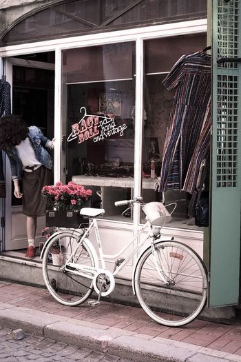 Peaceful place Bicycle Wanderlust City Adults Only Architecture Store Shope Vintage Old Oldtown Girl Outfit Spring Oldschool Door Windows Balat VSCO Beautiful EyeEmNewHere Lovely Outdoors Flowers Vscocam Building Exterior