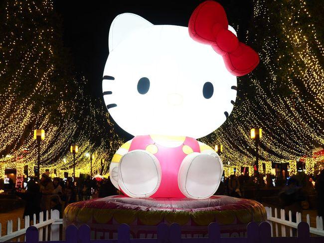 Hello Kitty Tokyo,Japan Tokyo Hello Kitty ❤ Hello Kitty <3 Hello Kitty Celebration Illuminated Night Outdoors Christmas Decoration Sky No People Close-up