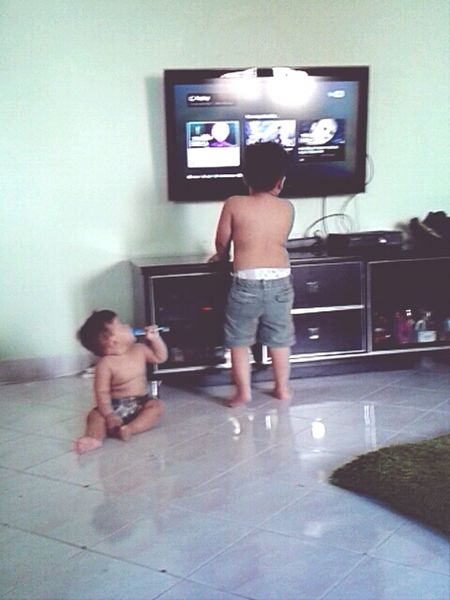 with this two little kids (aqif & haris)