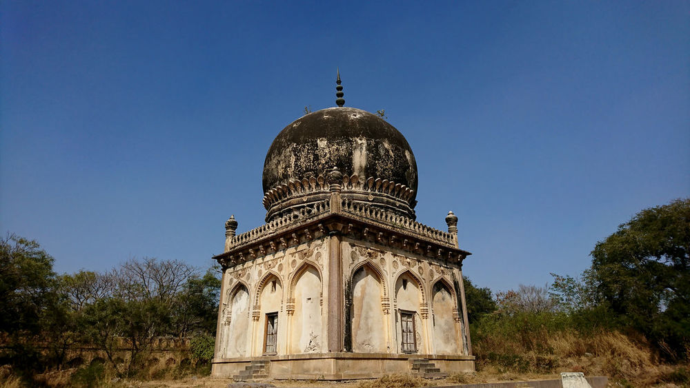 Historical Monuments Of Hyderabad Architecture Building Exterior Built Structure Day Dome Grass Hyderabad,India Low Angle View No People Outdoors Place Of Worship Qutub Shahi Tombs Religion Sky Sony Xperia Photography. Sony Xperia Xz Spirituality Travel Destinations Tree Xperian Photography