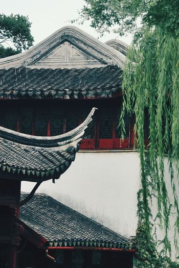 Roof Built Structure Day Architecture Outdoors No People Building Exterior Water Sky Tree Chinese Traditional Building