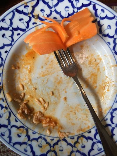 We ate it all! Empty Empty Plate Emptyplates Plate Food Chinese Food Leer Fertig Leerer Teller Finished High Angle View No People Nobody Food And Drink