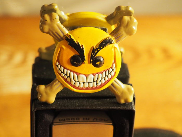 Button Character Close-up Cross Bones Evil Smiley Indoors  No People Smile Smiley Teeth Smiley The Psychotic Button