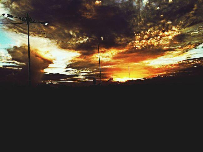Sunset Taking Photo Cloud MataramCity