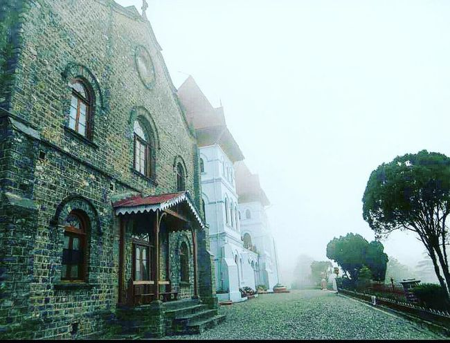 St. Joseph's school for boys. Nainital city. Architecture Building Exterior BritishArchitecture School Sky Foggy Dusky Sky Color Palette Eyemphoto