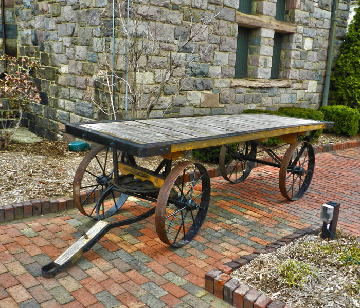Ready to Carry Absence Brick Pavement Brick Wall Bricks Built Structure Cart Empty Flatbed Horse Pulling Wagon Medevil Medieval Michigan Mode Of Transport No People Old Old Transport Parked Stationary Wheels The Street Photographer - 2016 EyeEm Awards