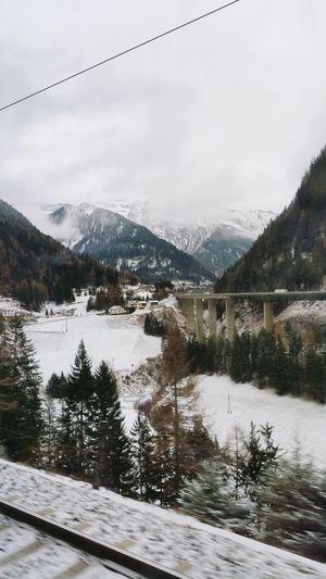 Alps snow pass