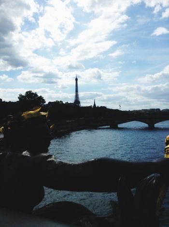 Paris Bridge Seine Statue