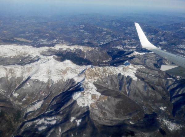 From an aeroplane window