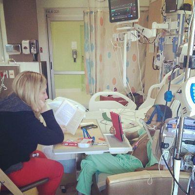 Teacher and Jason reading The River. Love . Seattlechildrens Seattlechildrenshospital Heart hearttransplant pneumonia donatelifetoday donatelife posttransplant