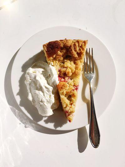 Cake Wipped Cream Sun Fork Silverware  Delecious