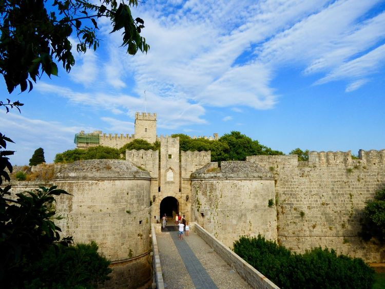 Rhodes Rhodes Greece Rhodes Old Town, Greece Castle Castles Walled City Sky Sky And Clouds Historical Buildings Old Buildings Castle Walls Knightsofstjohn