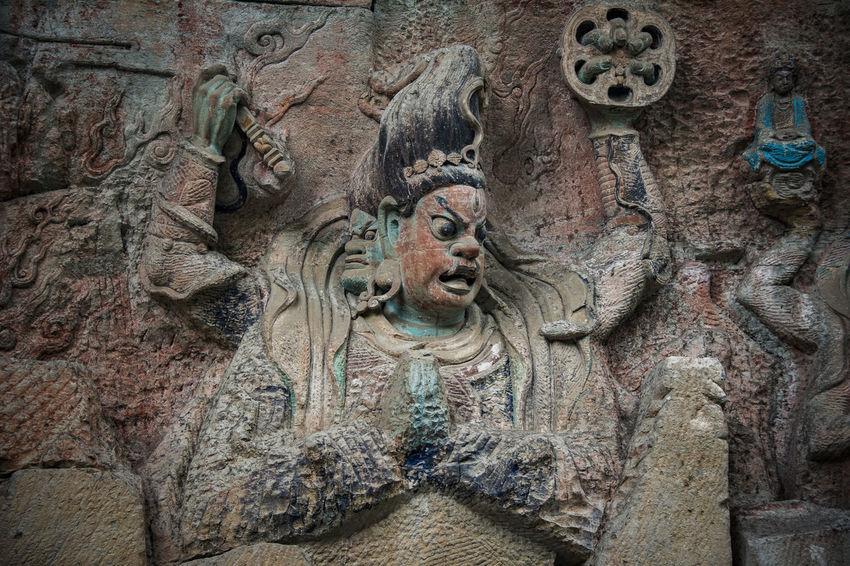 Dazu rock carving Art And Craft Architecture Human Representation Carving Buddhist Temple