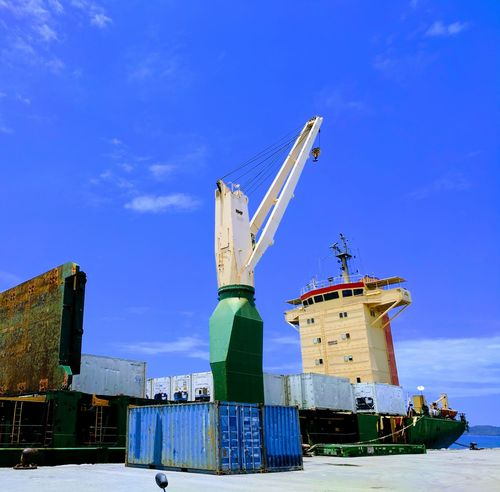 Blue Sky Ship Shipping Containers Tollaut Pelni Sbn