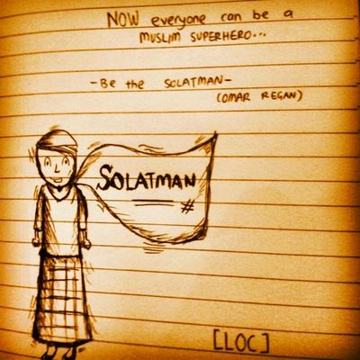 You want to be a superhero ? Yes you can ! Be the SOLATMAN ! ~Omar Regan~ ^^ What a messy drawing I did :p Hahaha my imagination of my Muslim Superhero @ SolatMan ;) Thesunnahthebetter TwinsOfFaith TOF2013 Addin islam productivemuslims almightybless