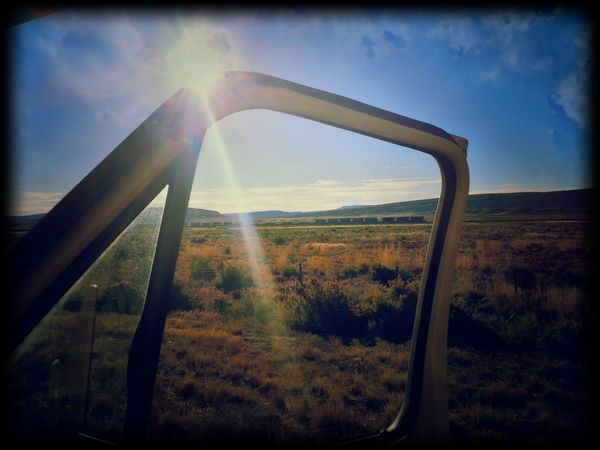 The Drive Rv Wyoming Tranquility Sky Sunlight Sunbeam Nature Outdoors Landscape Beauty In Nature Sun Sunset Tranquil Scene