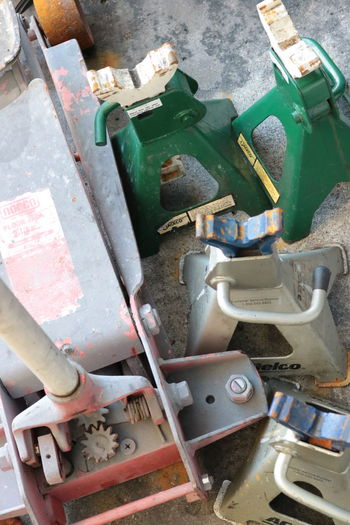 Car Equipment High Angle View No People Work Tool Day Close-up Outdoors Jack Car Jack