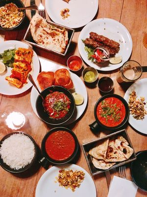 Tapas Shared Food Indian Food Table Plate Food Ready-to-eat Variation Abundance Directly Above Indulgence High Angle View No People Food And Drink Healthy Eating Buffet Comfort Food Choice Indoors  Meat Freshness