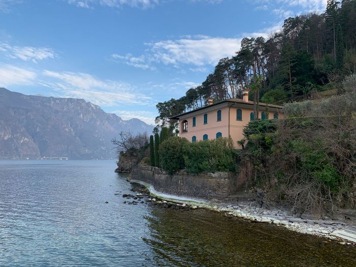 Bellagio Como Como Lake Water Architecture Building Exterior Built Structure Sky Nature Building Tree No People Mountain Plant Day Outdoors Beauty In Nature Travel Destinations House Cloud - Sky Waterfront Motion