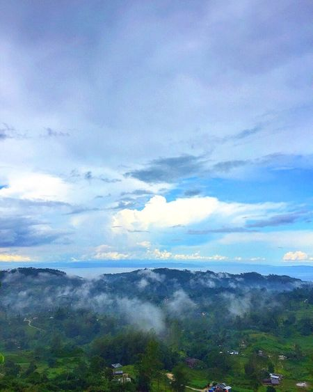 Beauty In Nature Nature Scenics Cloud - Sky Sky Landscape Mountain Outdoors Day Tree Mountain Range Blue Sky Forest Fog Scenery Tourism Travel Destinations Osmeña Peak Cebu City, Philippines