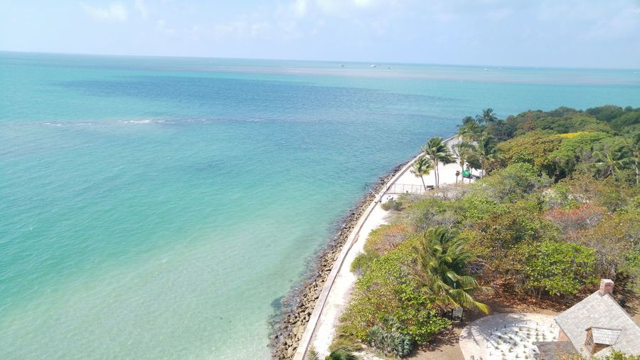 View From Above Enjoying The Sun Beach Key Biscayne Trip Exploring Mesmerizing National Park Top Perspective Heights Photography Adventure Landscape