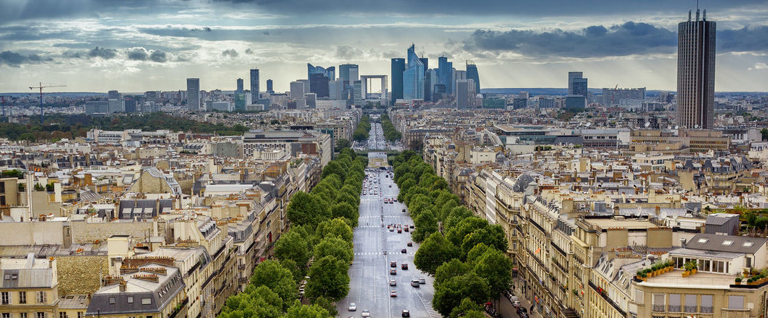 Avenue Buildings City Elevated View France Paris ❤ Place To Visit Touristic Destination