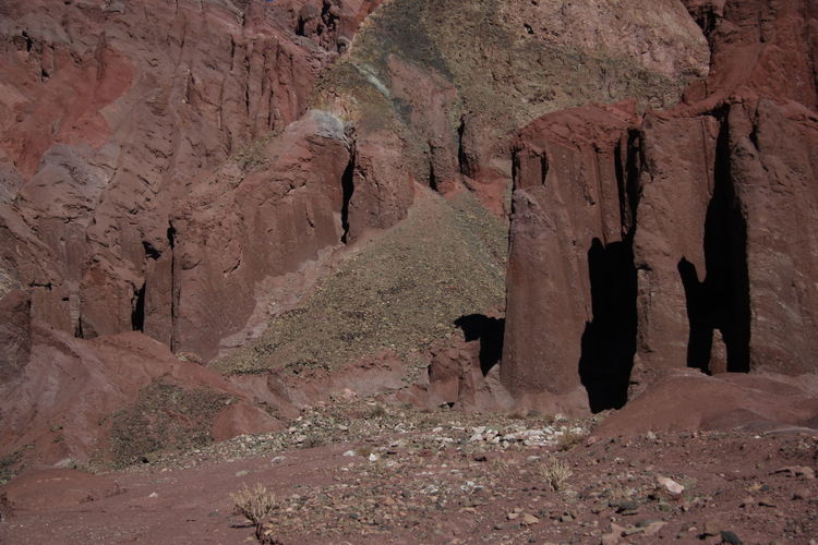 View of rock formations