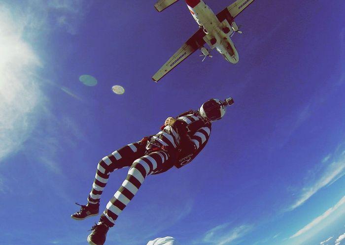 Extreme Sports FlyorDie Skydiving Skydiving Beahero Black & White Sky Go Higher