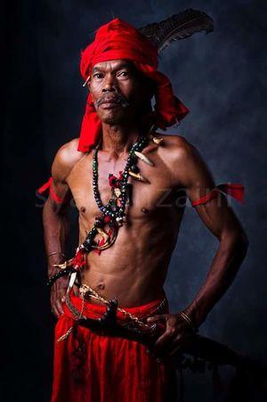 Arts Culture And Entertainment Portrait Jewelry Only Men Bidayuh Sarawak Malaysia Shamans Borneo Island Sarawak Culture Sarawak