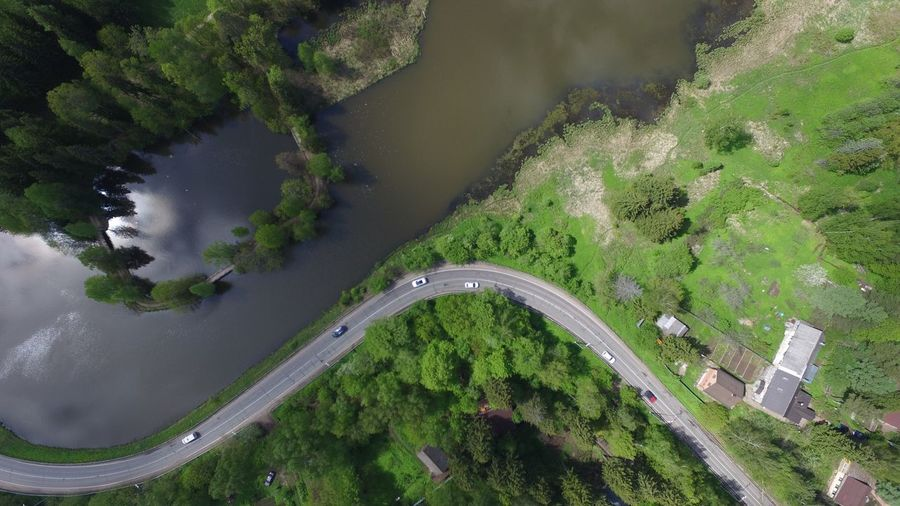 Abramtsevo from above Aerial View High Angle View Transportation Tree Green Color Day No People Road Outdoors Scenics Nature Architecture Beauty In Nature Water Sky Tranquility Tranquil Scene Road River Lake The Great Outdoors Aerial Shot Aerial Photography Dji Nature Let's Go. Together.