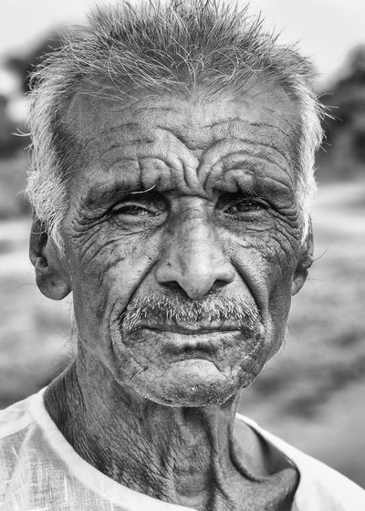 Black And White Close-up Day Gunbir Headshot Human Face Nature Old Age Outdoors Portrait Sky Wrinkled Skin