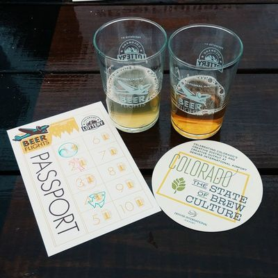 101/365 | And so it begins. BeerFlightsDIA 365grateful Beerstagram