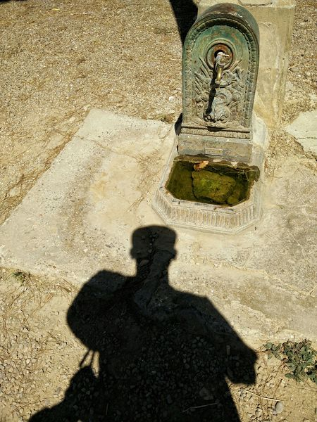 Me and the fountain. Fountain Shadow My Shadow