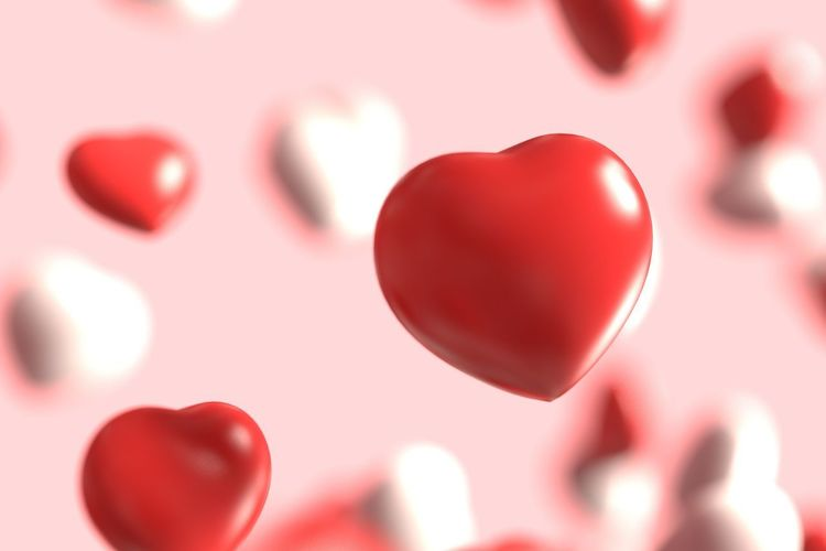 Close-up of heart shape balloon