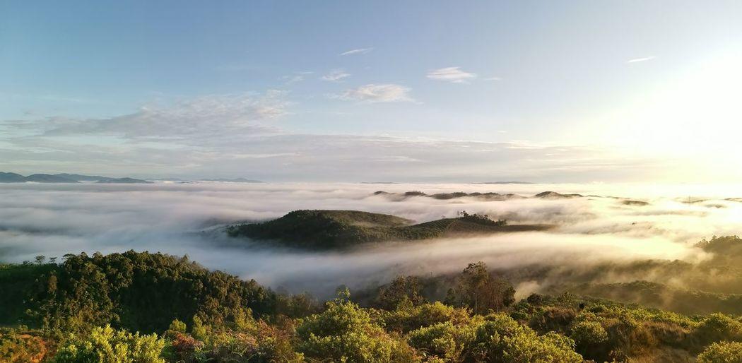 Panoramic view at awan karpet bukit senaling