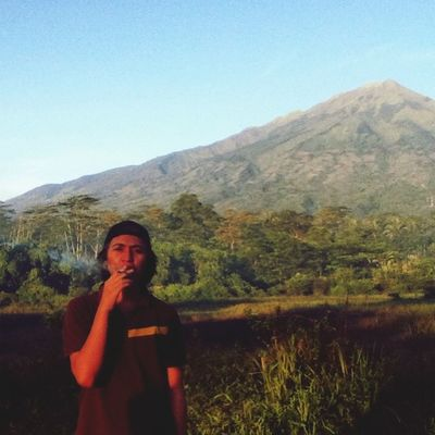 Background is mt.merbabu at Boyolali Central Java,indonesia
