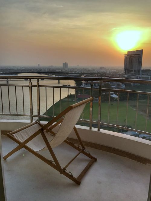 Water Railing Sunset Sky Architecture Built Structure Building Exterior Sun Outdoors Nature No People Beauty In Nature Day Senset View Sunset_collection Sunset Silhouettes Cityscape Cloud - Sky Condominium