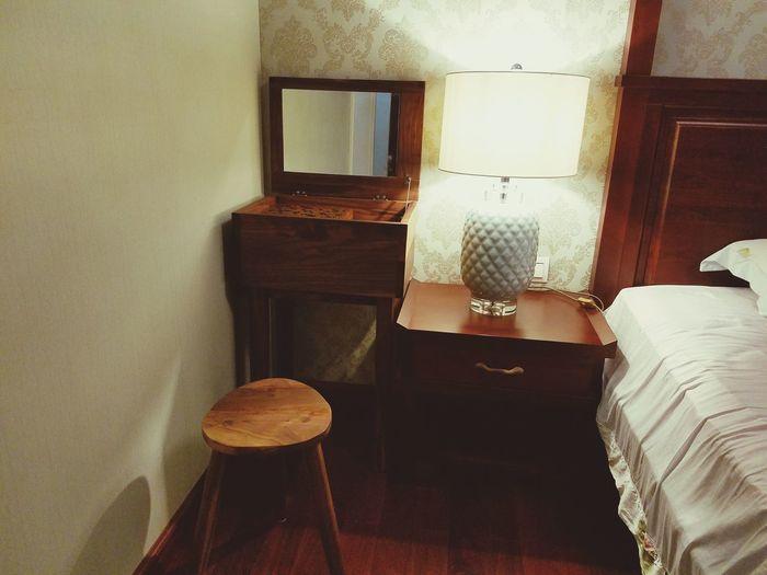 High angle view of room