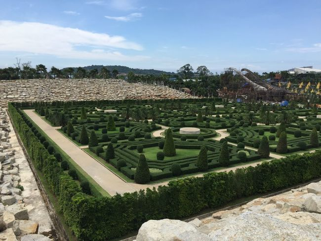 Architecture Built Structure Day Formal Garden Garden Green Color Growth Hedge History Land Nature No People Outdoors Plant Sky Sunlight The Past Topiary Tranquility Tree