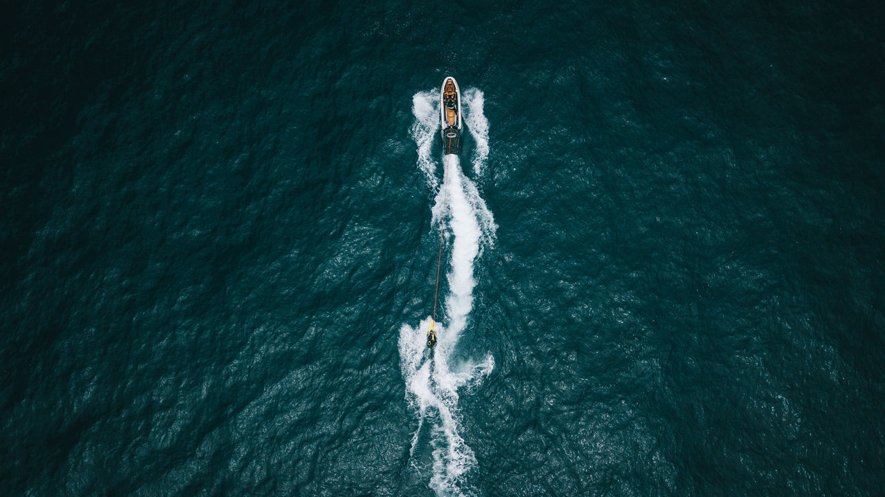 Boat,  Day,  Drone Point Of View,  High Angle View,  Horizontal Image