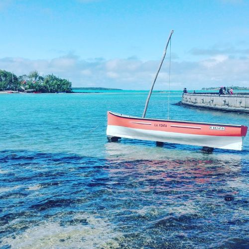 People And Places Discoveringmauritius Mauritian_life Cloud - Sky Nature Sky Water Tranquil Scene Summer Memories 🌄 Travel Destinations Boats⛵️