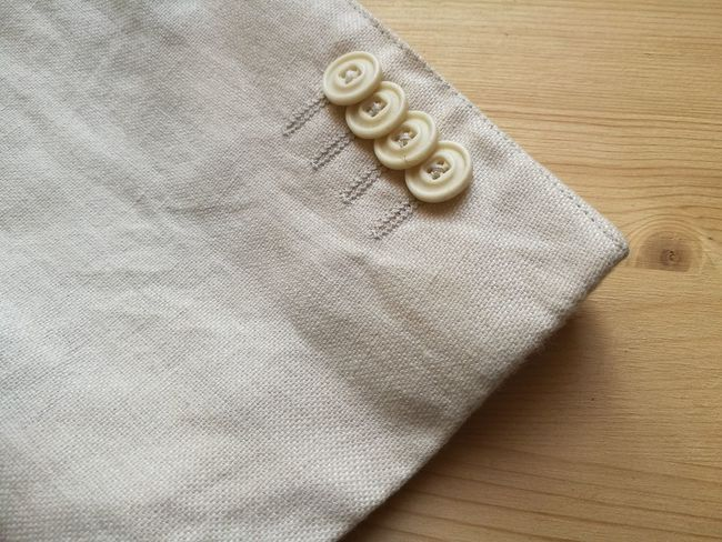Particular of man's jacket Buttons Detail Details Fashion Jacket Man's Sleeve  Style Tailored Textile White