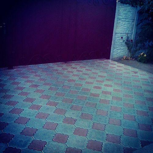ворота плитка настины_ворота :) настина_плиточка :) улица Сегодня гуляла по улице, выпасала Настю :) так и не дождалась:(