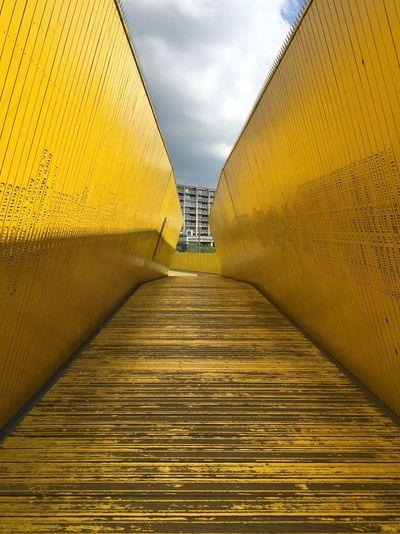 City Walk I Love Rotterdam! Paint The Town Yellow Rotterdam The Netherlands Surprising Rotterdam Yellow Corridor Yellow Walkway