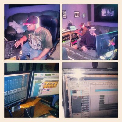 Gettin creative with @elodaepidemic custom tracks for my new project and mixing MysteryStreetRecordingCompany Mdgofficial log in www.ayoungreality.com