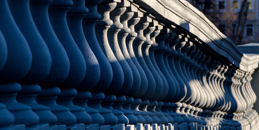 Russia, Moscow, architecture, Cathedral of Christ the Savior, the balusters, the shadow of Abstract Backgrounds Blue Cathedral Of Christ The Savior Close-up Day Large Group Of Objects Moscow Moscow, Architecture No People Outdoors Pattern Russia The Balusters The Shadow Of The Sun