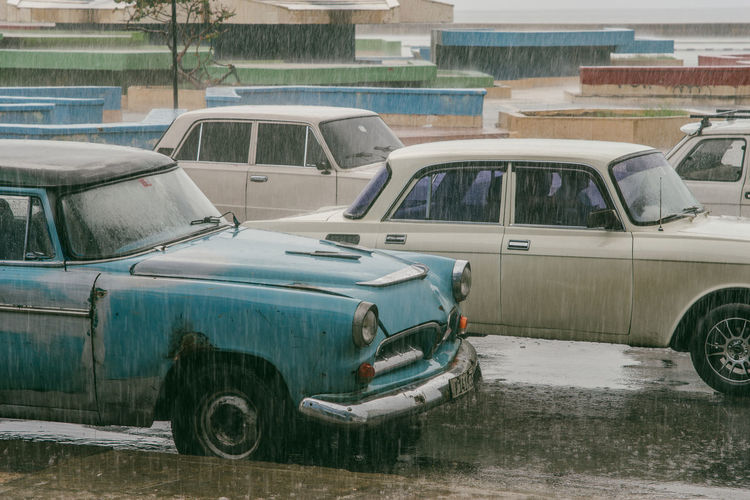 Havana~ Abandoned Architecture Built Structure Car City Damaged Day Glass - Material Land Vehicle Mode Of Transportation Motor Vehicle Nature No People Obsolete Old Outdoors Road Street Transportation The Traveler - 2018 EyeEm Awards