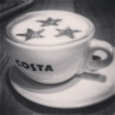 Morning Coffee at Costa with @mrsemmamurray and Edelyn Babym