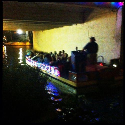 Night Cruising Mob Fiction Turn Your Lights Down Low San Antonio Riverwalk  Night Lights San Antonio Texas River Taxi